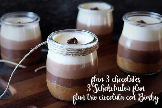 3 Schokoladen flan mit Thermomix