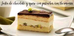 Schokoladen- und Käsekuchen mit Pistazien mit Thermomix