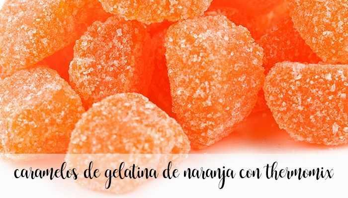Orangengeleesüßigkeiten mit Thermomix