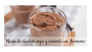 Zartbitterschokolade und Karamell-Mousse mit Thermomix