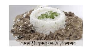 Stroganoff-Kalbfleisch-Rezept mit dem Thermomix