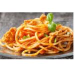 Glutenfreie Spaghetti mit Thunfisch und Tomate für Thermomix
