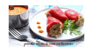 Mit Fleisch gefüllte Paprika mit Thermomix